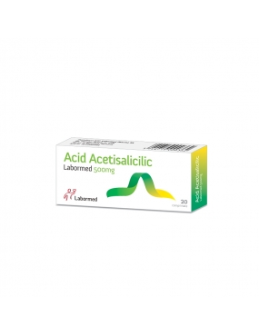 Acid Acetilsalicilic 500mg-cpr x 20-Labormed