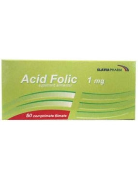 Acid Folic 1mg X 50 cp - Slaviafarm