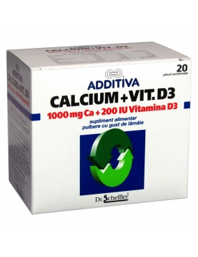 Additiva Calciu +vit.D3 plc. x 20