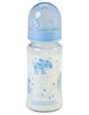Baby Nova 44240 Biberon sticla gat larg tetina soft+natural anticolici 240ml