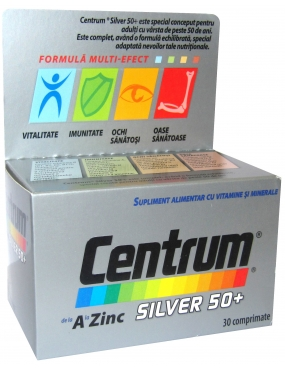 Centrum Silver 50+ pt Barbati-cpr.film. x 30-Wyeth-Lederle