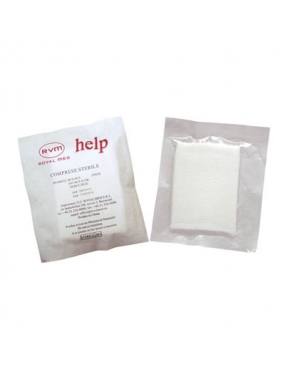 Comprese Sterile 10x8cm x 25buc-Roval Med