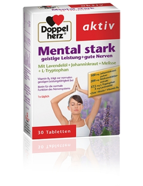 Doppel Herz Aktiv Mental Power-tlb x 30
