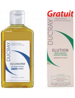 Ducray Squanorm Matreata Grasa 200ml +Elution 75ml