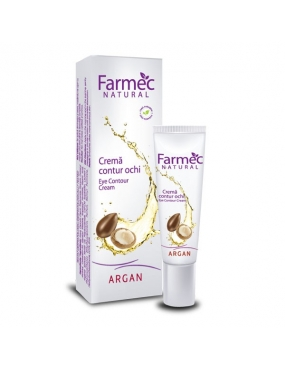 Farmec Natural crema Contur Ochi Argan x 15ml