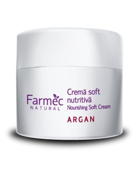Farmec Natural crema Soft Nutritiva Argan x 150ml