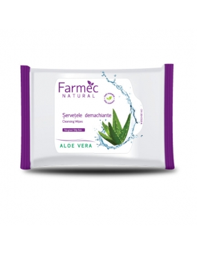 Farmec Natural Servetele Demachiante Aloe Vera