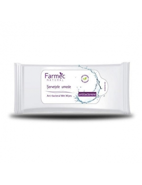 Farmec Natural Servetele umede Antibacterian