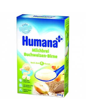 Humana Cereale Hrisca si Pere x 250gr