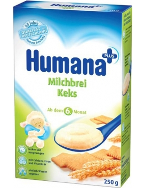 Humana Cereale Lapte/Biscuiti 250g