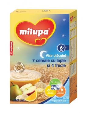 Milupa Cereale-Lapte 4 Fructe 250g