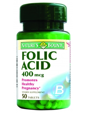 Natures Bounty Acid folic 400mg x 50