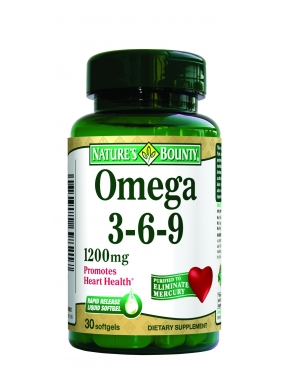 Natures Bounty Omega 3-6-9 120mg CT x 30