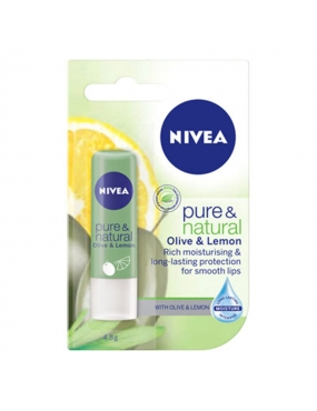 Nivea Pure&Nat. LIP CARE Balsam Buze Olive&Lemon 85223