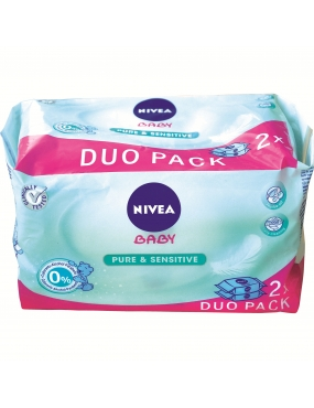 Nivea servetele pure&sensitive duo pack