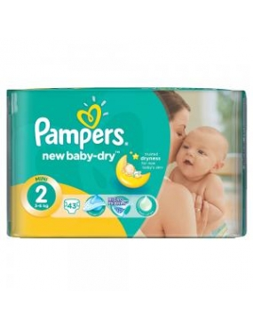 Pampers 2 New Baby Mini 3-6kg x 100buc-CVB Sales