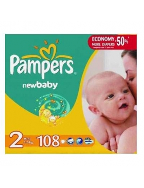 Pampers 2 New Baby Mini 3-6kg x 108buc