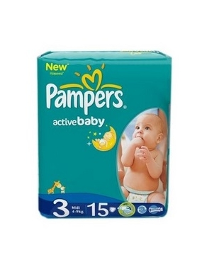 Pampers 3 Active Baby 4-9kg x 15buc-CVB Sales