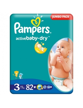 Pampers 3 Active Baby 4-9kg x 82