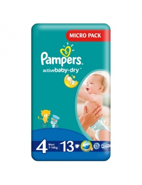 Pampers 4 Active Baby 7-14kg x 13buc-CVB Sales