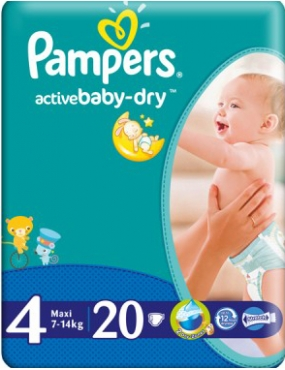 Pampers 4 Active Baby 7-14kg x 20buc