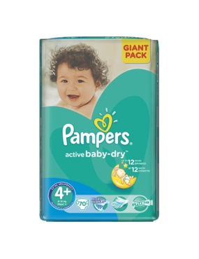 Pampers 4+ Active Baby 9-16kg x 70buc-CVB Sales