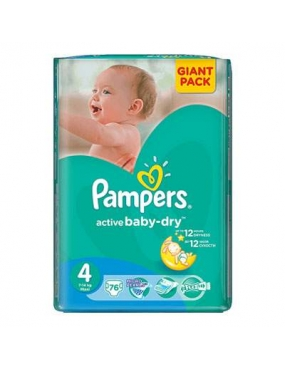 Pampers 4 Active Baby Maxi 7-14kg x 76buc-CVB Sales