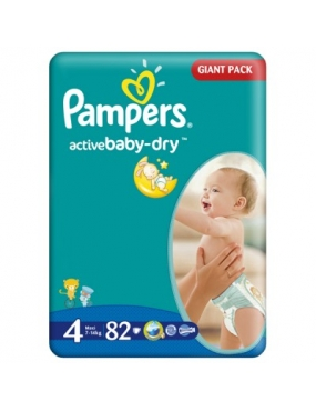 Pampers 4 Active Baby Maxi 7-14kg x 82buc.