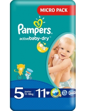 Pampers 5 Active Baby 11-18kg x 11buc-CVB Sales