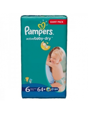 Pampers 6 Active Baby 15Kg 64buc.