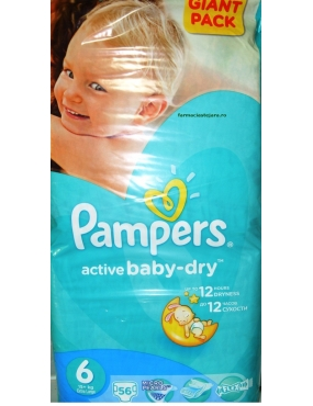 Pampers 6 Active Baby 15kg x 56buc-CVB Sales