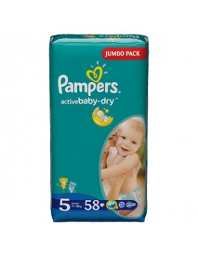 Pampers Baby Dry Junior 11-25 x 58
