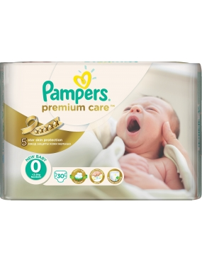 Pampers Premium Care 0 NEWBABY x 30buc.