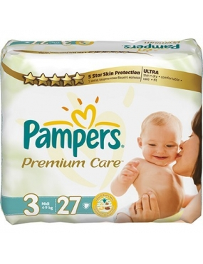 Pampers Premium Care 3 midi x 27buc-CVB Sales