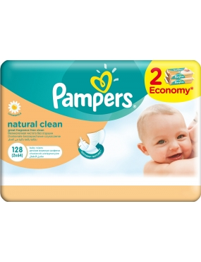 Pampers Servetele Naturally Clean Duo