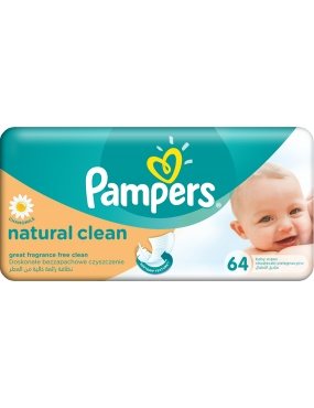 Pampers Servetele Naturally Clean Single