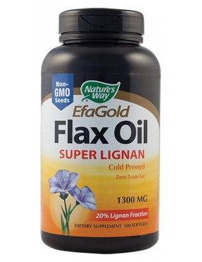 Secom Flax Oil 1300 Super Lignan 100 Natures Way