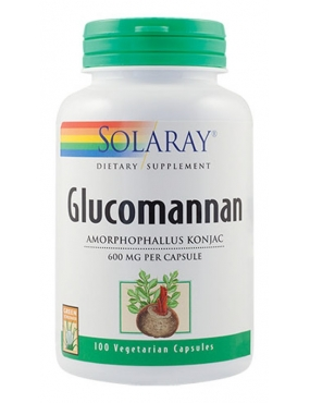 Secom Glucomannan 600mg-cps x 100-Solaray
