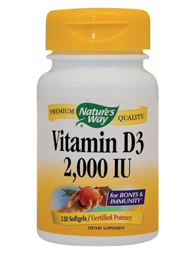 Secom Vitamin D3 2000 IU-cps. x 120-Natures Way