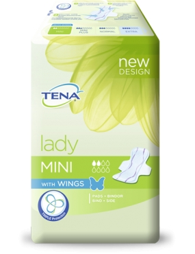 Tena Lady Mini Wings x 18