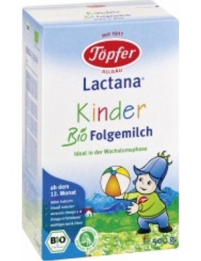 Topfer Kinder Organic Follow-on milk x 500g