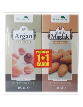 Transvital Ulei de Argan Virgin 100ml+Ulei de Migdale 100ml